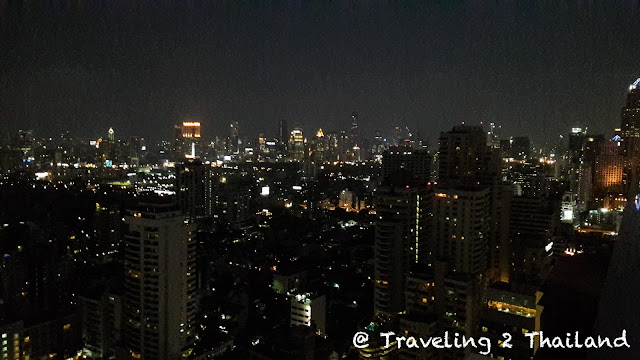 View from L'Appart rooftop lounge in Bangkok, Thailand