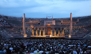 Opera at the arena in Verona, Italy