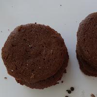 Salt and pepper cocoa shortbread