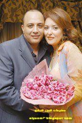 الفنانة نهال عنبر وزوجها