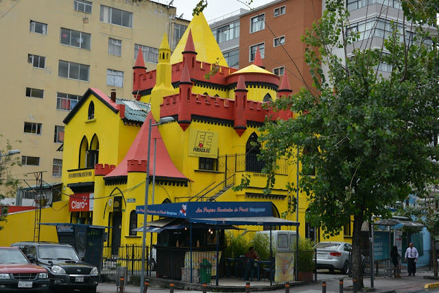 Quito yellow castle