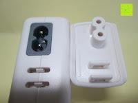 Deckel: [Smart Port & LCD Bildschirm] aLLreLi 24W (5V 4,8A) 2-Port USB Reiseladegerät Kit mit austauschbarem (EU,UK,US,UK) Stecker - [Universal] Ladegerät für Smartphones & Tablets (z.B. iPhone 6S / 6 Plus / 5S / 5C / 4S, iPad Air 2 / Mini 3 / 4, Samsung Galaxy S6 Edge / S5 / S4 / S3, Note 5 / 4 / 3 / 2, Galaxy Tab 3 / 2, HTC One M9 / M8, Google Nexus 5 / 7 / 10) [Farbe: Weiß]