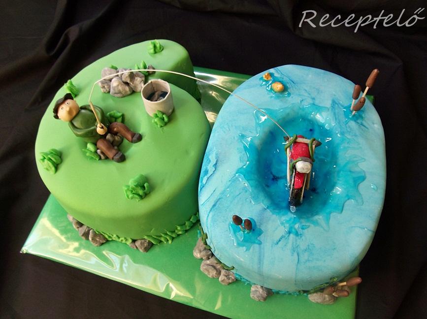 születésnapi torta 60 Receptelő: Horgászos motoros torta 60. születésnapra születésnapi torta 60