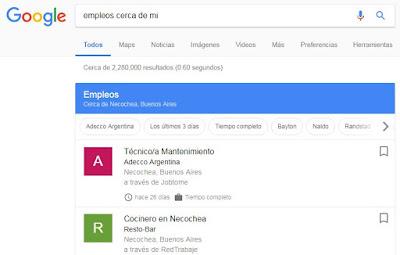 Google empleos en Argentina