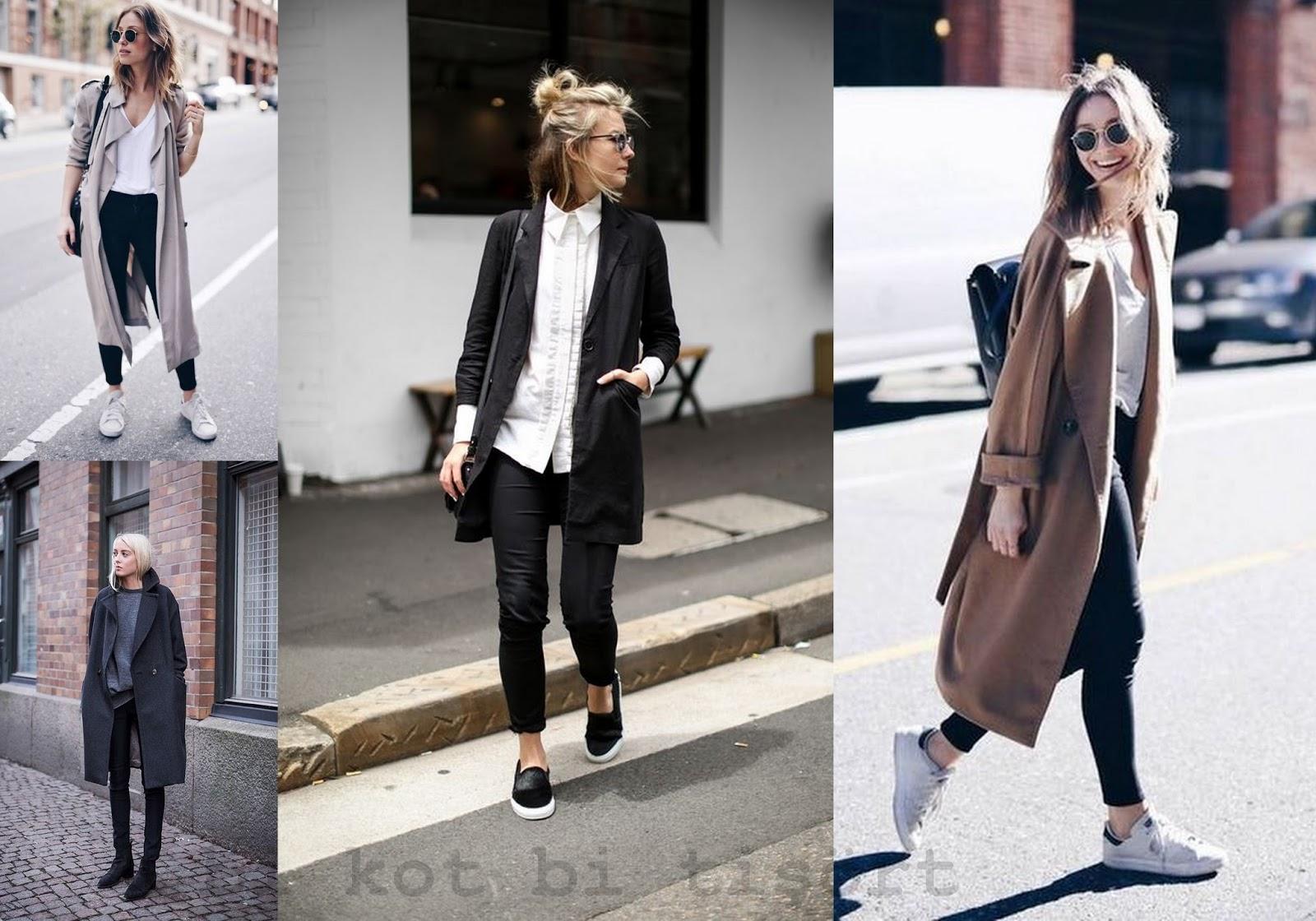 Siyah bir kat giymek için ne giyersen
