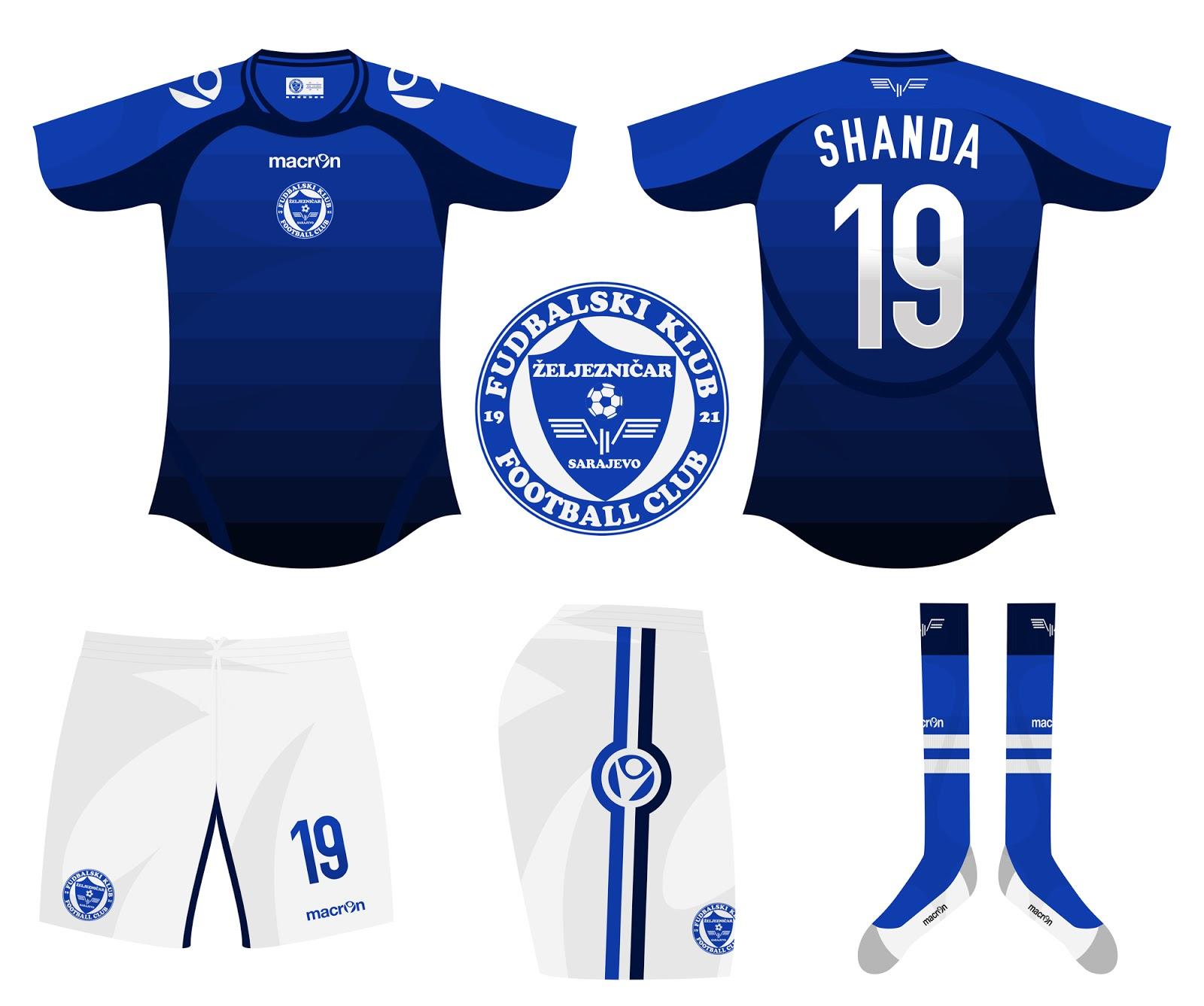 Kits Trikot Camisas Maillot  Fudbalski Klub Željezničar Sarajevo 946ac281fdf96