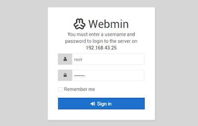 Panel Login Webmin