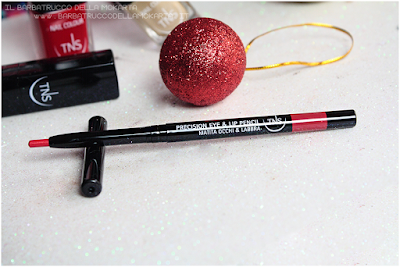 automatic pencil red lip pencil rosso  best wishes TNS cosmetics Christmas