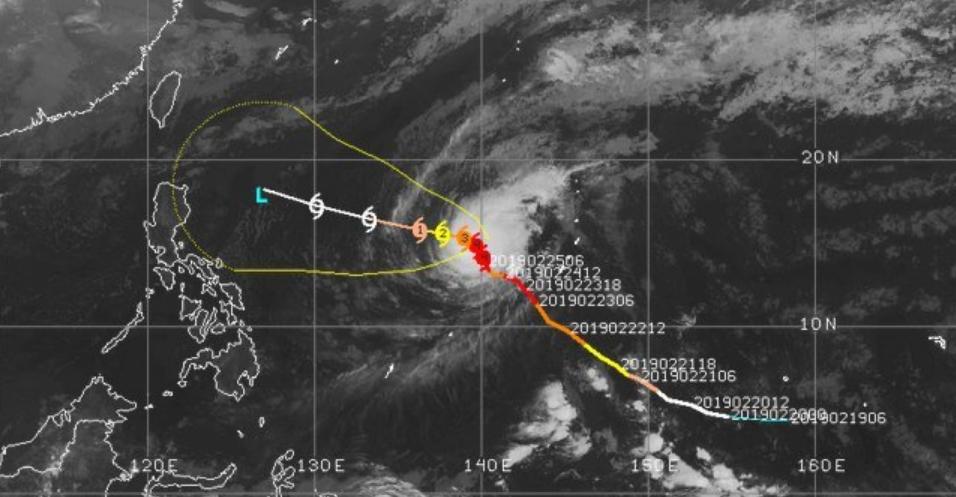 Si forma nel Pacifico il primo Uragano di Categoria 5 del 2019, è un Supertifone!