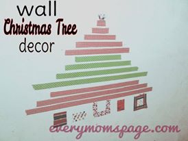 #DIY: Wall Christmas Tree Decor Using Washi Tapes