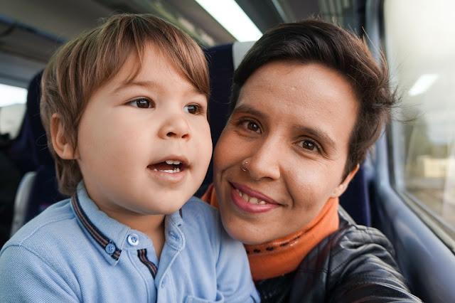 Family train trip