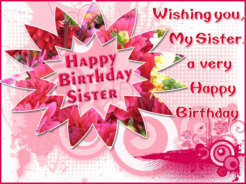 Happy Birthday Wishes For Sister From Brother