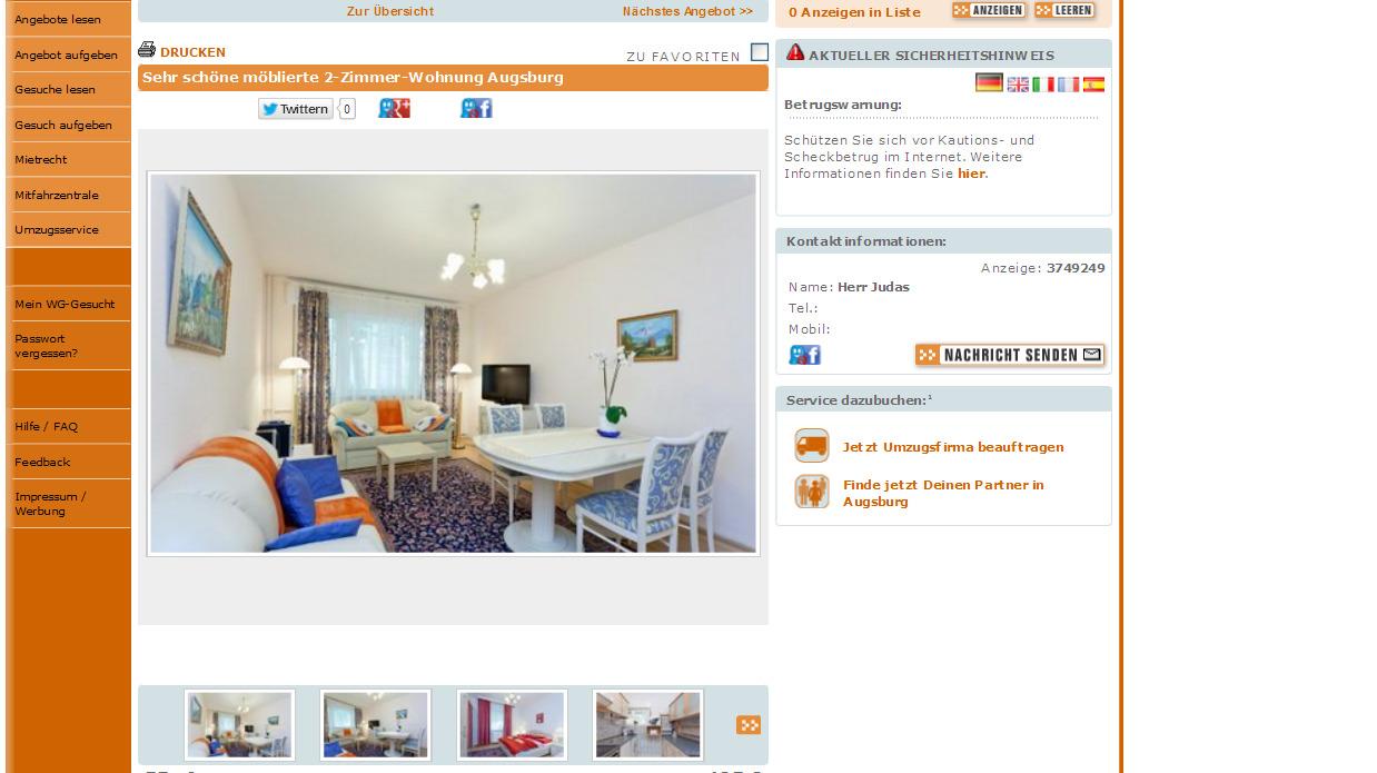 Immobilienscout Wohnung Mieten Augsburg