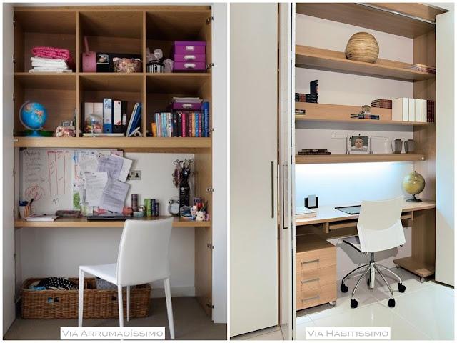 aproveitando espaços para criar um home office