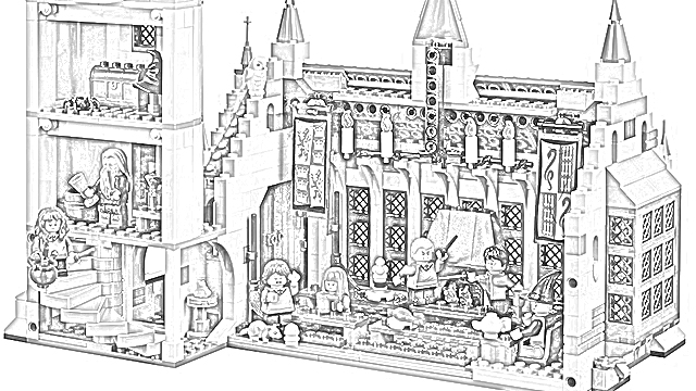 - The Holiday Site: Harry Potter LEGO Great Hall Coloring Pages Free And  Downloadable