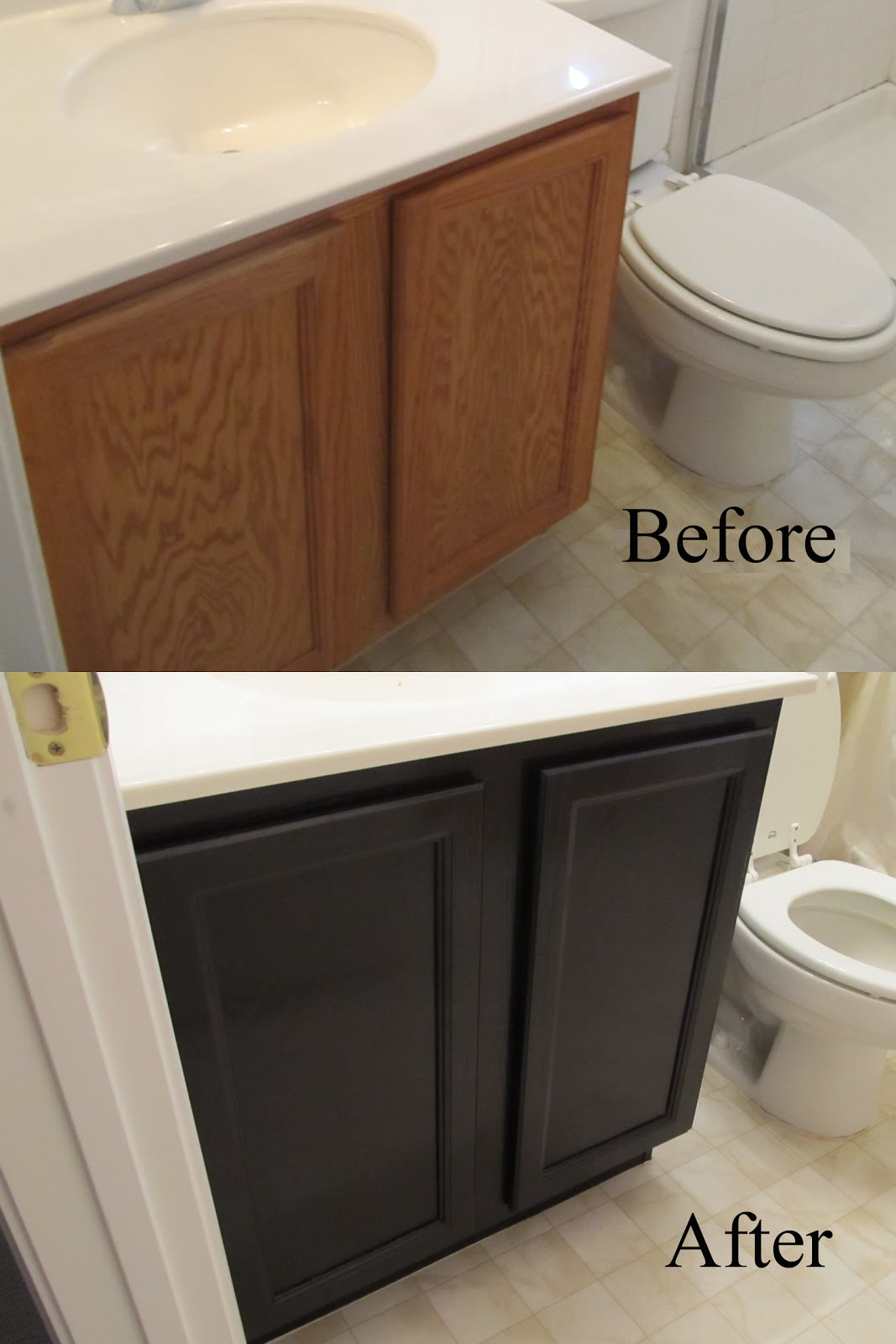 Gel Staining Cabinets with Stain