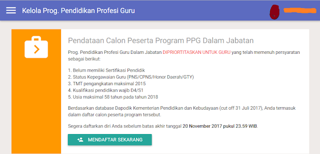 daftar program ppg di sim pkb