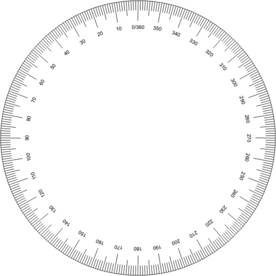 Zany image with 360 degree protractor printable