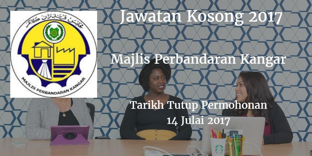 Jawatan Kosong Majlis Perbandaran Kangar 14 Julai 2017