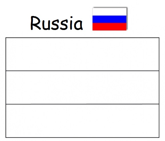 Geography Blog Russian Flag Coloring Page