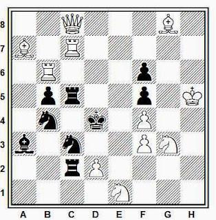 Problema de mate en 2 compuesto por Jordi Breu i Noguera (Problemas, 1945)