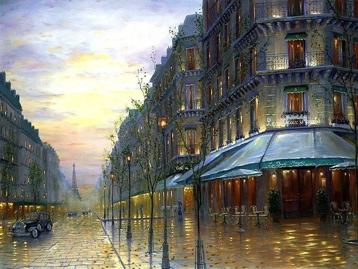 Романтические городские пейзажи. Robert Finale 17