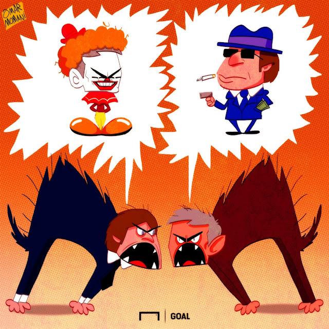 Conte and Mourinho cartoon