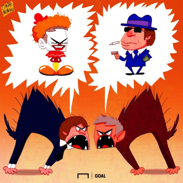 Conte and Mourinho cartoon