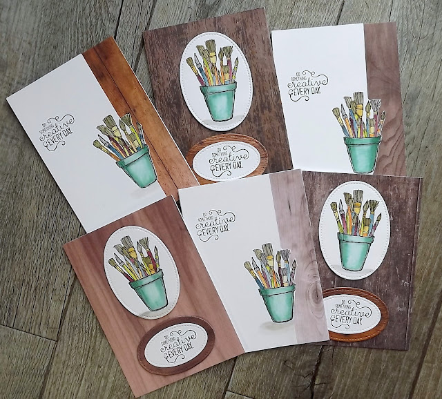 Stampin' Up! Crafting Forever and Wood Textures DSP