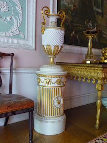 One of the pedestals in the Eating Room, Osterley