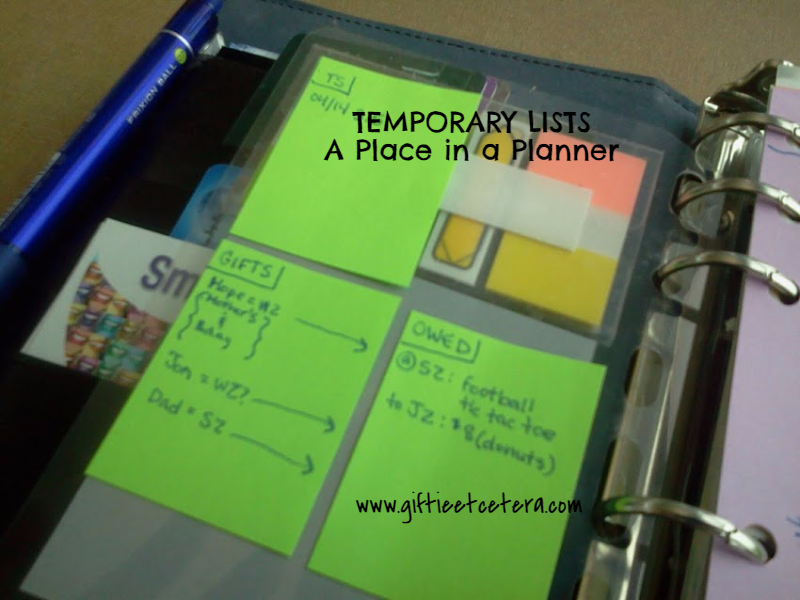 planner, post-it, dashboard