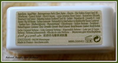 L'Occitane Verbena Body Lotion Ingredients