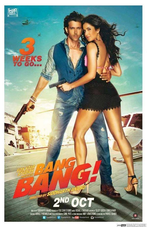 Bang Bang 2014 Hindi Movie Free Download 480p BrRip 400MB