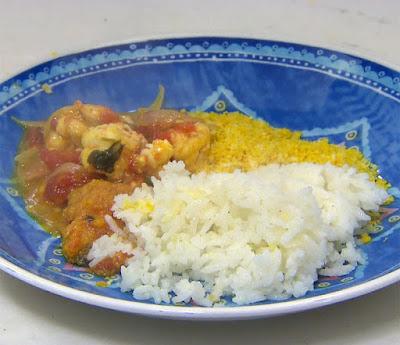 Moqueca de lagostim com pirão