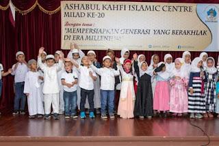 "Ashabul Kahfi Islamic Centre (AKIC) memperingati milad ke-20 tahun  dengan menyelenggarakan berbagai kegiatan bertema ""Mempersiapkan Generasi yang Berakhlak di Era Millennial""."