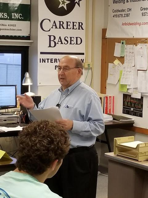 Mr. John Irmscher speaking to Tri Star Celina CBI Classes