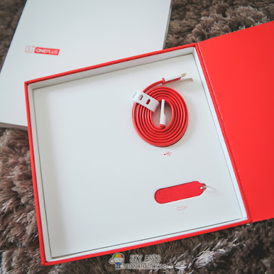 OnePlus One Striking Orange Color USB Cable and SIM-card Pin