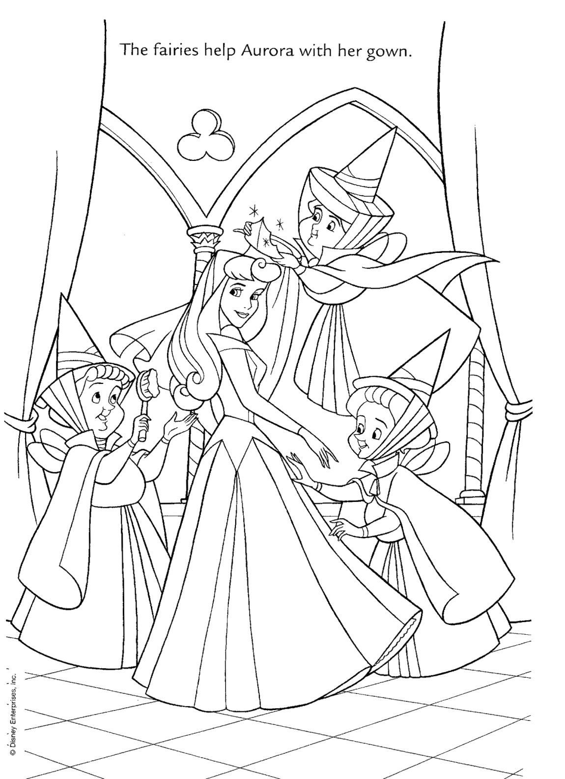 Disney Princess Wedding Coloring Pages
