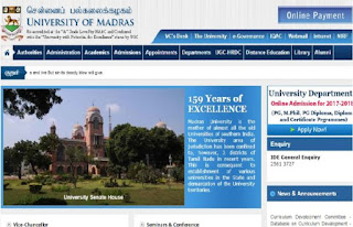 Madras University UG, PG Results 2018-19
