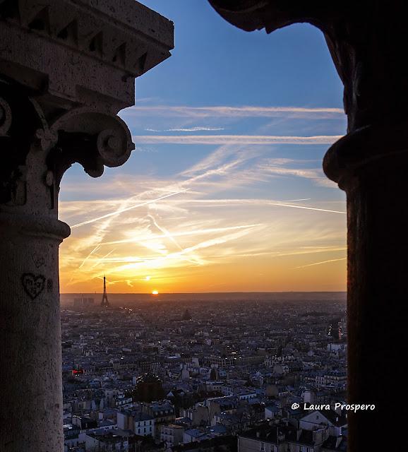 Vista do alto da Basilica do Sagrado Coraçao, Paris © Laura Próspero