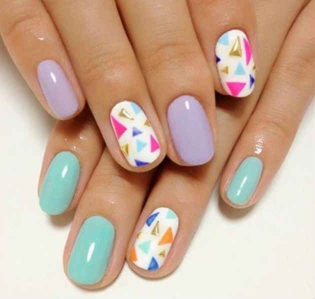 Designs Art Nail Polish Pastel Nail Design No 03