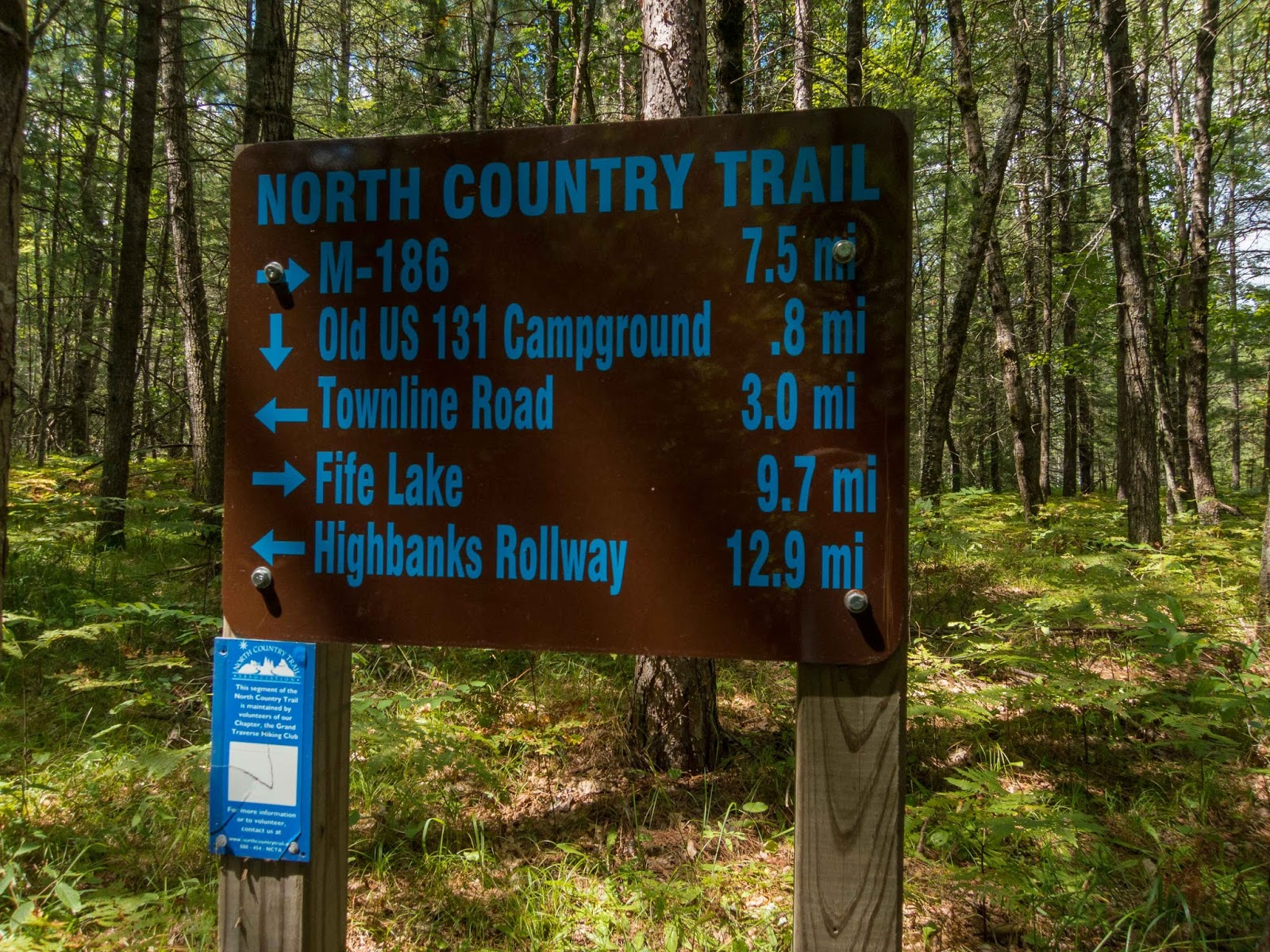 Eric's Hikes: North Country Trail/Fife Lake Loop