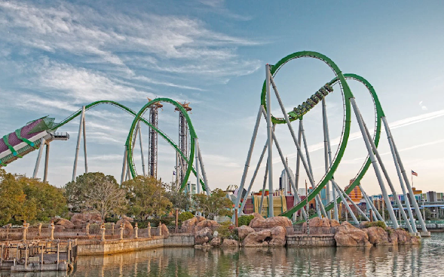 Montanha Russa do Hulk - Islands of Adventure Orlando