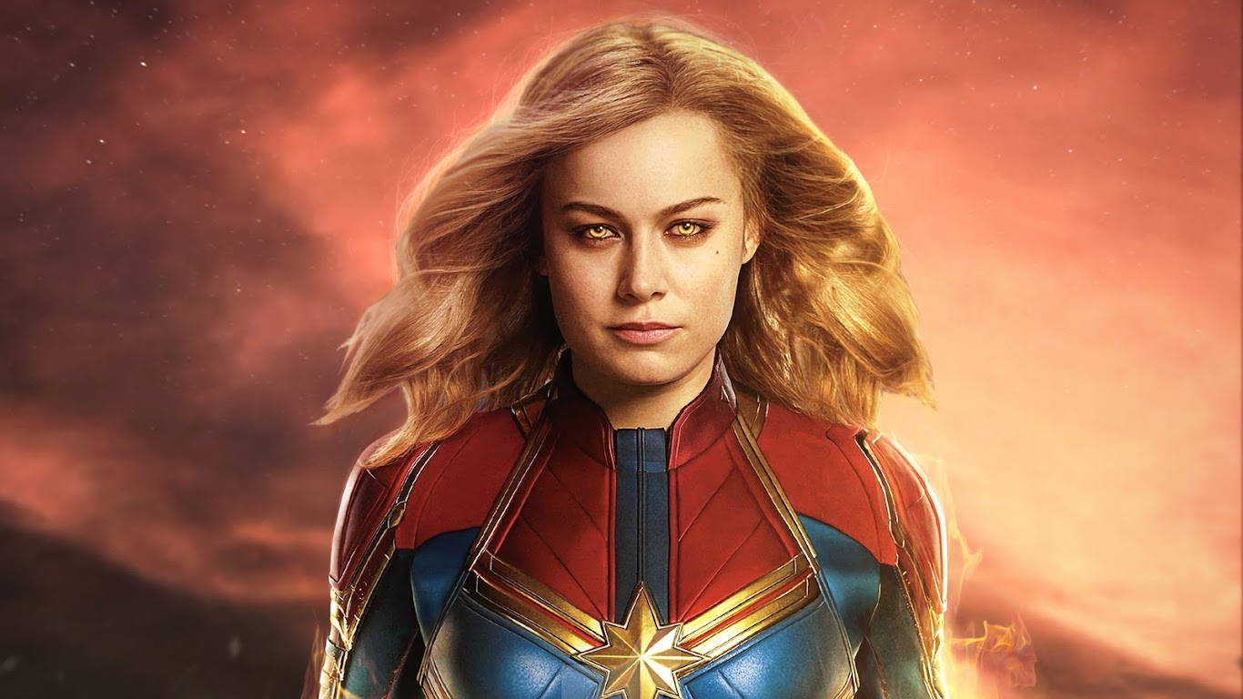 Captain Marvel Movie Brie Larson 4k Wallpaper 33