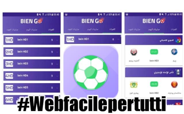 BienGO | Applicazione Android Per Vedere In Streaming Le Migliori Partite Di Calcio Italiane e Estere