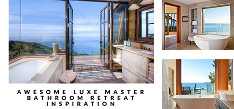 Awesome Luxe Master Bathroom Retreat Inspiration