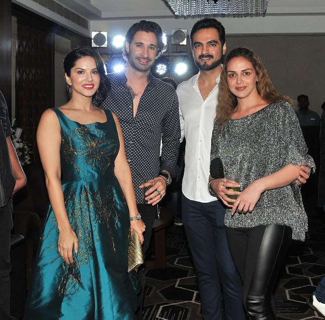 10. Sunny Leone with Daneil Weber, Isha Deol and Bharat Takhtani