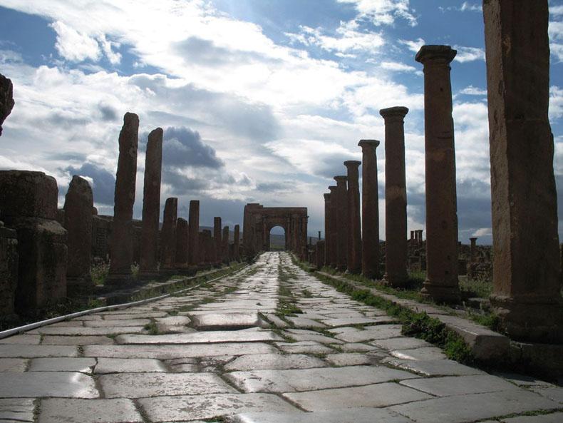 Imagen del día: Una vieja vía romana de hace 1.800 años en África