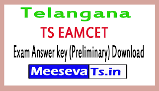 TS EAMCET Exam Answer key (Preliminary) Download 2017
