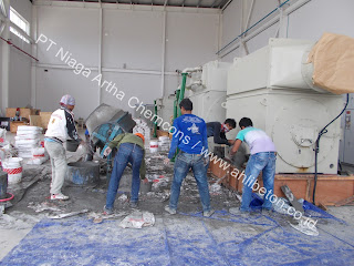 aplikasi base plate grouting